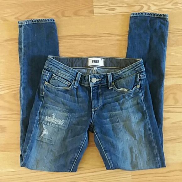 PAIGE Denim - Paige denim skinny jeans skyline ankle peg size 24